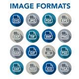 Image format icons - PNG, JPG, EPS, PDF, SVG Royalty Free Stock Image