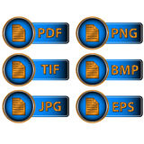 Image formats Stock Photo