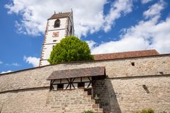 Fortified church at Bergfelden south Germany. An image of the fortified church at Bergfelden south Germany royalty free stock photography