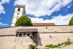 Fortified church at Bergfelden south Germany. An image of the fortified church at Bergfelden south Germany royalty free stock image