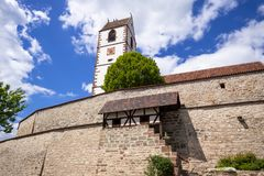 Fortified church at Bergfelden south Germany. An image of the fortified church at Bergfelden south Germany royalty free stock images