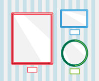 Image frames on wall. Photo, museum or empty wall Royalty Free Stock Photography