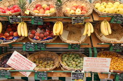 Image of France. Shop with colourful fruits in France Stock Image