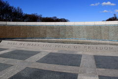 Image of The Freedom Wall, with thousands of gold stars in memory of lives lost, WWII Memorial,Washington,DC,2015 Stock Photography