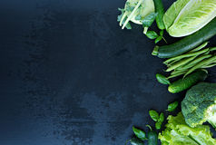 Image of fresh green vegetables Stock Photos