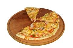 Image of fresh italian pizza isolated over white background Royalty Free Stock Photo