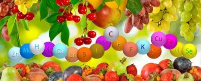 Image of fresh organic fruit Royalty Free Stock Photos