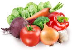 Image of fresh vegetables on white
