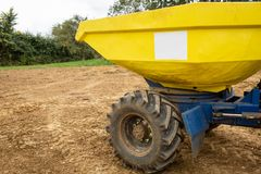 Image of front dumper truck in construction site. stock photos