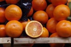 Oranges. Image with fruit box and oranges royalty free stock photo