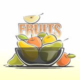 Image fruit plate Stock Images