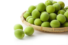 An image of Fruit of plum. Plum was placed on a white background Royalty Free Stock Image