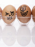 Image of Funny easter eggs Royalty Free Stock Images