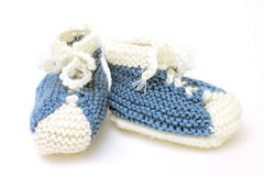 Image of funny little booties as sneakers Royalty Free Stock Photo