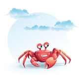 Image of funny merry crab-girl Royalty Free Stock Image
