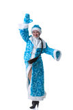 Image of funny Snow Maiden posing at camera Stock Photography