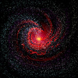 Image of galaxies, nebulae, cosmos, and effect tunnel spiral gal Royalty Free Stock Photos