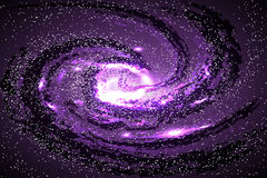 Image of galaxies, nebulae, cosmos, and effect tunnel spiral gal Royalty Free Stock Image