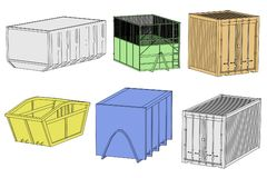 Image of garbage containers Stock Photo