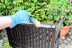An image of a Garden furniture - painting stock photo