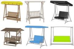 Image of garden swings Stock Photos