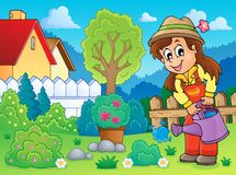 Image with gardener theme 2 Royalty Free Stock Photography