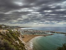 Port Ginesta, Costa del Garraf. Image from the Garraf coast of one of the beaches of the Barcelona littoral Royalty Free Stock Images