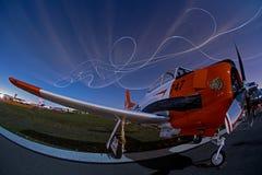 Gary Rower night airshow routine. Image of Gary Rower performing his night-time airshow routine at Sun-n-Fun, Lakeland, Florida royalty free stock photo