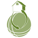 Geothermal Icon. An image of a geothermal sustainable energy icon Stock Photo