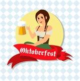 Image german waitress on Octoberfest Royalty Free Stock Photos