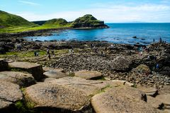 View of Giant`s Causeway royalty free stock images