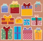 Image with gift theme  Royalty Free Stock Photography