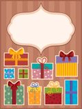 Image with gift theme  Stock Image