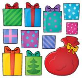 Image with gift theme 4. Eps10 vector illustration Stock Image