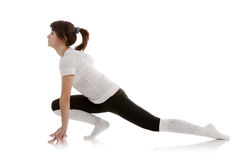 Image of a girl practicing yoga Stock Photo