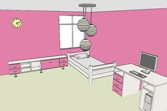 Image of girls room Royalty Free Stock Images