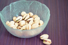 Cup of healthy unsalted pistachios Royalty Free Stock Photo