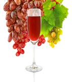 Image of a glass of wine and grapes Stock Photo