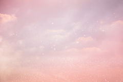 Image of glittery bokeh lights background Royalty Free Stock Photography