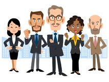 The image of Global business team. The image of a Global business team, men and women, various ages and races vector illustration