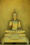 Image of golden buddha statue in temple in province tak. Stock Images