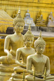 Image of golden buddha statue in temple in province tak. Stock Photos