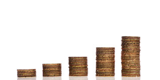 Image of Golden coins stack Royalty Free Stock Image