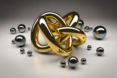 Golden torus Stock Photography