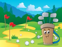 Image with golf theme 2. Eps10 vector illustration Stock Image