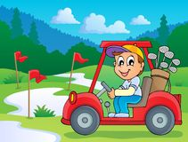 Image with golf theme 5 Royalty Free Stock Image