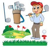 Image with golf theme 6. Eps10 vector illustration Stock Photos