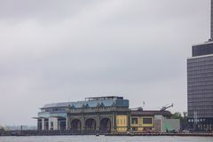 Image of Governors Island and Whitehall Terminal Manhattan New Y Royalty Free Stock Photos
