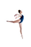 Image of graceful ballerina posing in jump Royalty Free Stock Photography