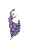 Image of graceful female dancer posing in jump Royalty Free Stock Image